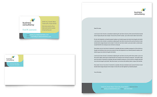 Business Consulting - Business Card Templates - Word  Publisher - microsoft office small business templates