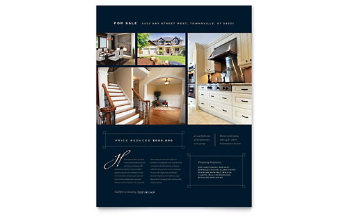 luxury real estate flyers