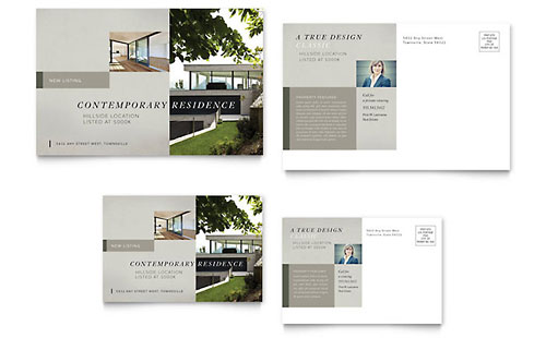 Real Estate - Postcard Templates - Word  Publisher - free microsoft word postcard template