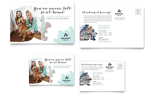 Real Estate - Postcard Templates - Word  Publisher - Microsoft Word Postcard Template