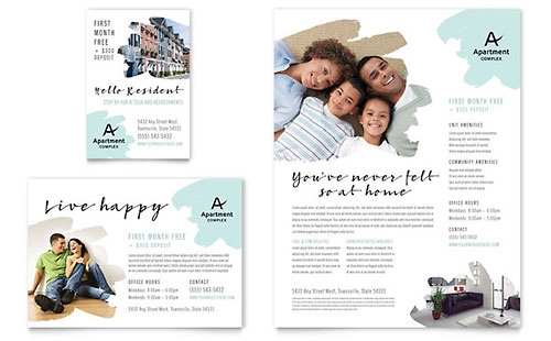 Property Management - Flyer Templates - Word  Publisher - advertisement flyer template