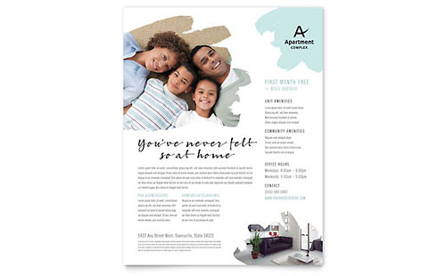 Real Estate - Flyer Templates - Word  Publisher - flyer templates for microsoft word