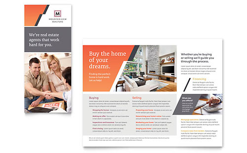 Real Estate Brochures  Flyers - Word  Publisher Templates