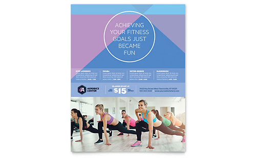 Sports  Fitness - Flyer Templates - Word  Publisher - Fitness Brochure Template