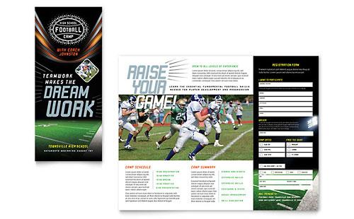 Sports \ Fitness - Tri Fold Brochure Templates - Word \ Publisher - microsoft word tri fold brochure