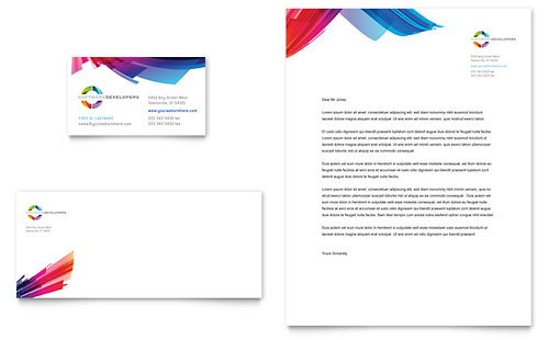Software Developer - Stationery Templates - Word  Publisher - microsoft stationery template