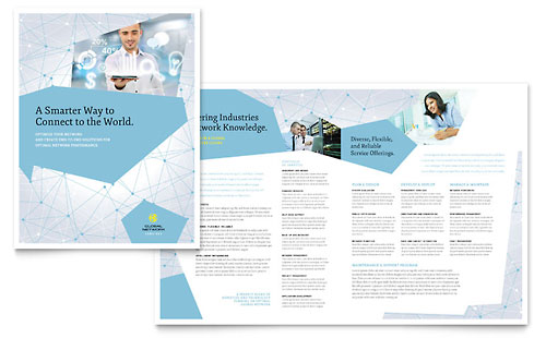 Global Network Services Brochure Template - Word \ Publisher - services brochure
