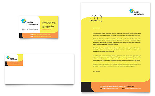 Business Consulting - Business Card Templates - Word  Publisher