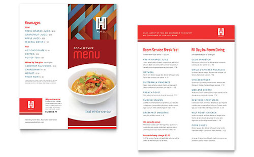 85x11, A4 Menu Templates - Word  Publisher Templates