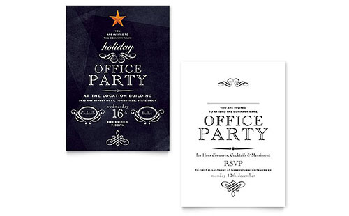 Invitations - Word Templates \ Publisher Templates - party invitation templates word