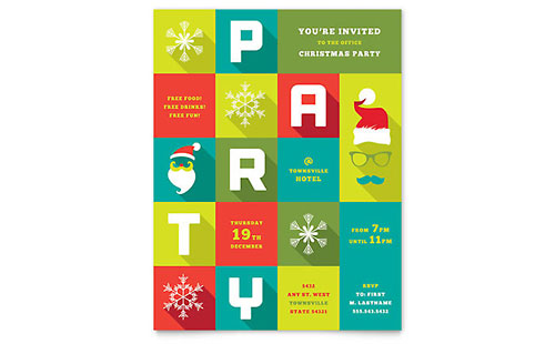 Microsoft Office Templates - Christmas Posters LayoutReady - microsoft publisher christmas templates