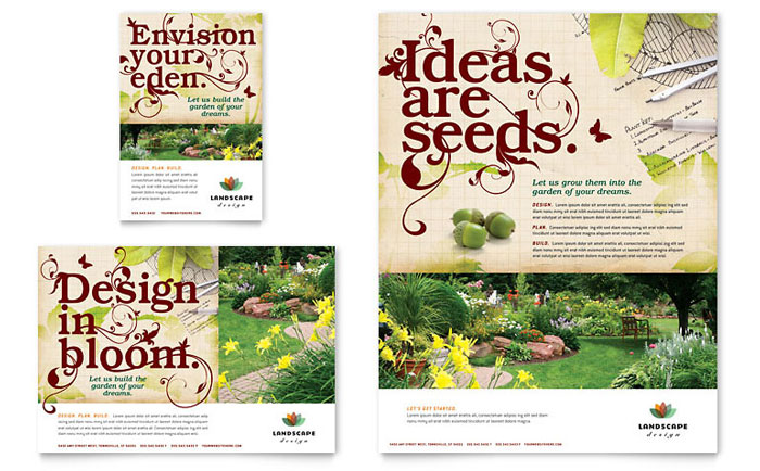 Landscape Design Flyer  Ad Template - Word  Publisher