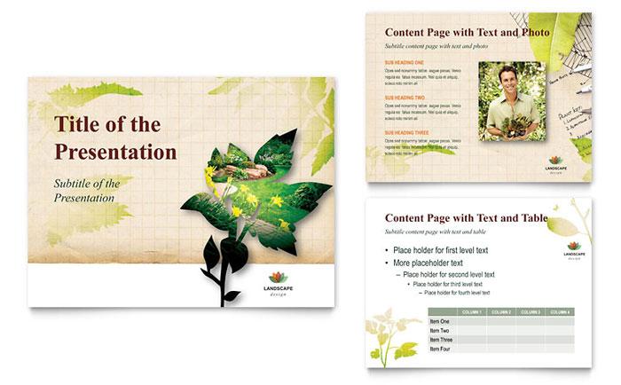 Landscape Design PowerPoint Presentation - PowerPoint Template