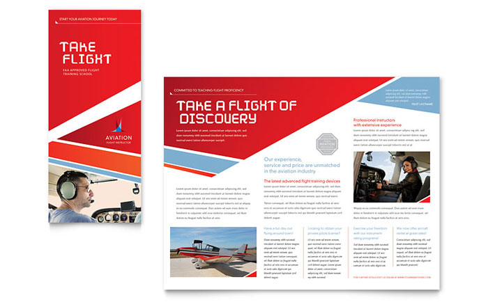 Aviation Flight Instructor Brochure Template - Word  Publisher