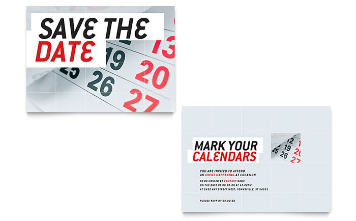 Save The Date Announcement Template - Word  Publisher