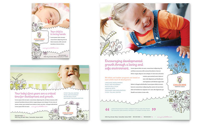 Babysitting  Daycare Flyer  Ad Template - Word  Publisher