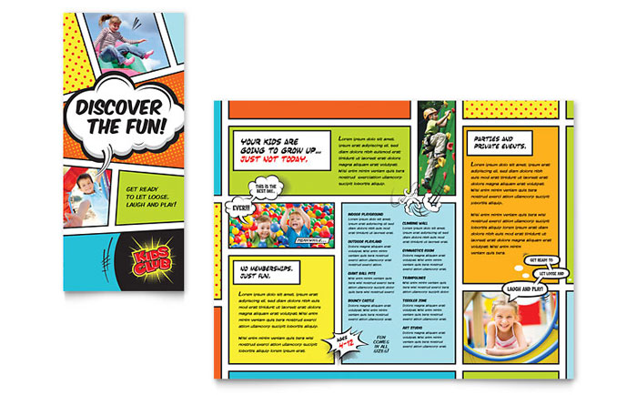 Kids Club Brochure Template - Word  Publisher