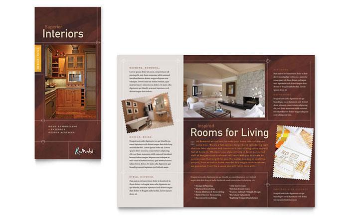 Home Remodeling Tri Fold Brochure Template - Word \ Publisher - microsoft word tri fold brochure