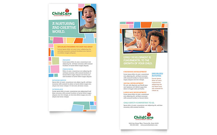 Preschool Kids  Day Care Flyer  Ad Template - Word  Publisher