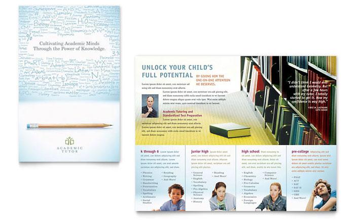Academic Tutor  School Brochure Template - Word  Publisher