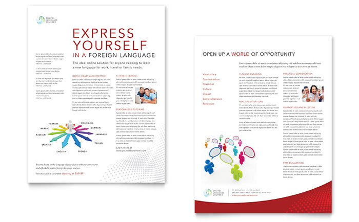 Education  Training - Sales Sheet Templates - Word  Publisher