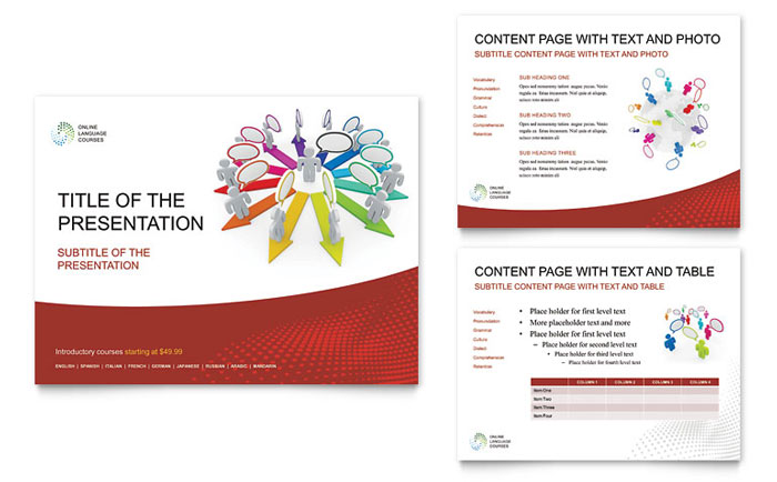 Language Learning PowerPoint Presentation - PowerPoint Template