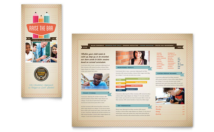 Tutoring School Brochure Template - Word  Publisher