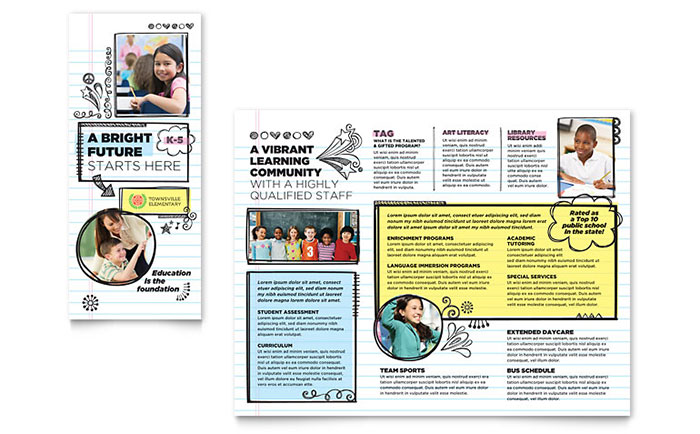 Child Care Brochures  Flyers - Word  Publisher Templates