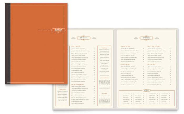 Food  Beverage - Menu Templates - Word  Publisher - microsoft office menu templates