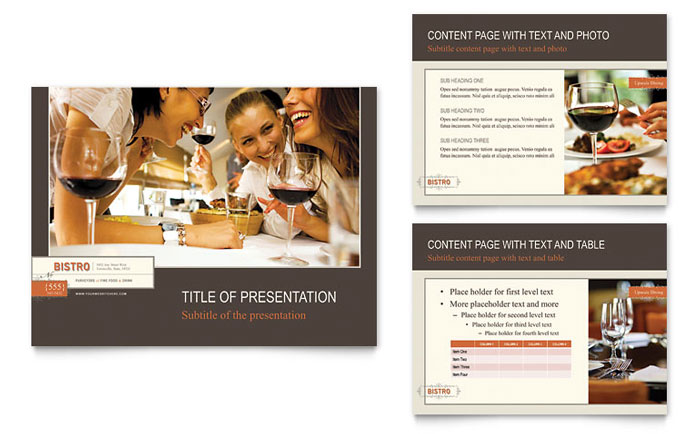 Bistro  Bar PowerPoint Presentation - PowerPoint Template - Presentations Template
