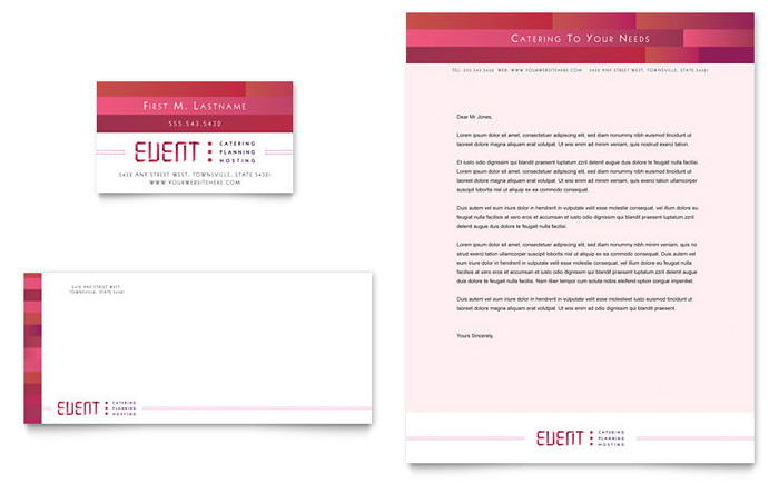 Corporate Event Planner  Caterer Brochure Template - Word  Publisher