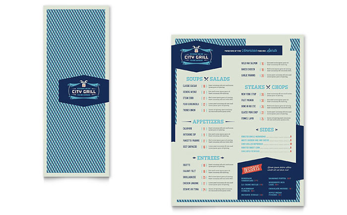Fine Dining Restaurant Take-out Brochure Template - Word  Publisher