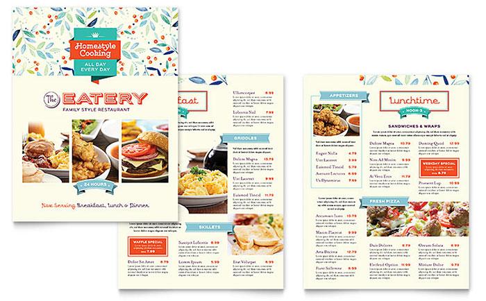 publisher menu template - 28 images - top 35 free psd restaurant - sample menu template