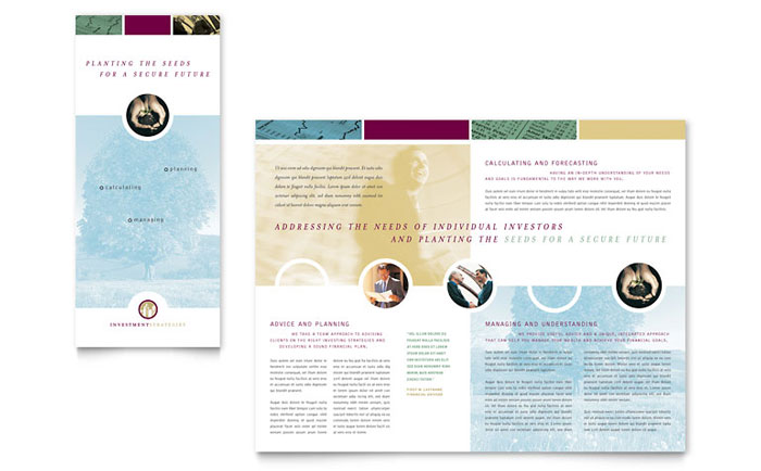 Financial Consulting Tri Fold Brochure Template - Word  Publisher