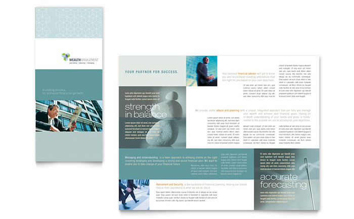 Wealth Management Services Tri Fold Brochure Template - Word  Publisher