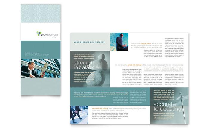 Wealth Management Services Tri Fold Brochure Template - Word - microsoft word tri fold brochure