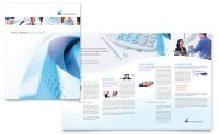 Accounting Firm Brochure Template - Word & Publisher