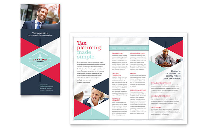 Tax Preparer Brochure Template - Word  Publisher - phamplet template
