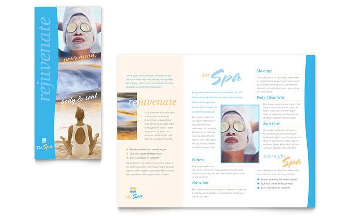 Beauty Spa Brochure Template - Word  Publisher - brochures templates word