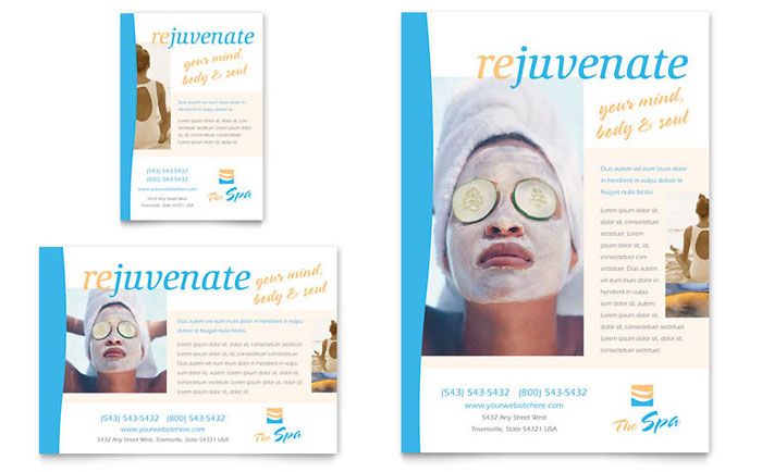 Beauty Spa Flyer  Ad Template - Word  Publisher
