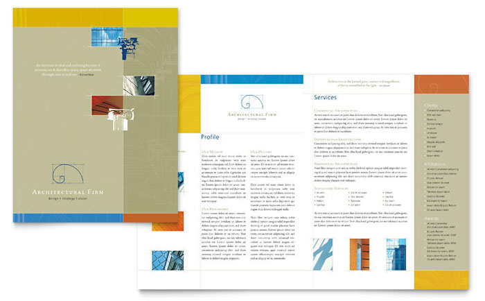 Architectural Firm Brochure Template - Word  Publisher - architecture brochure template