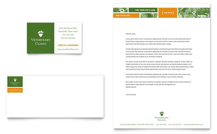 vet stationary with photos Letterhead Pinterest - free letterhead samples