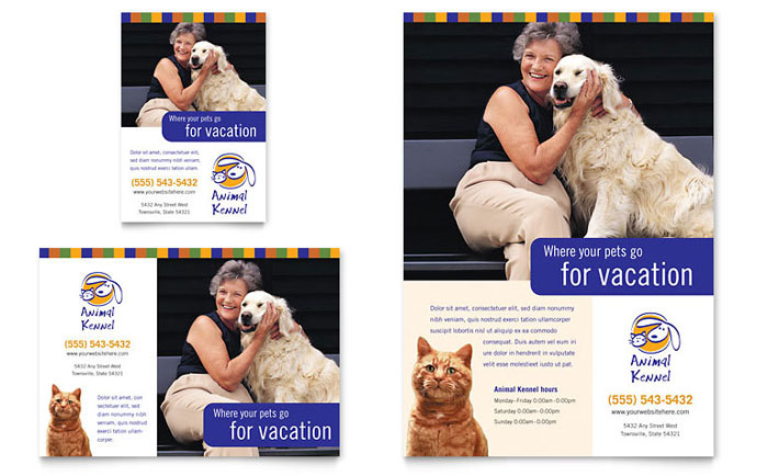 Dog Kennel  Pet Day Care Flyer  Ad Template - Word  Publisher