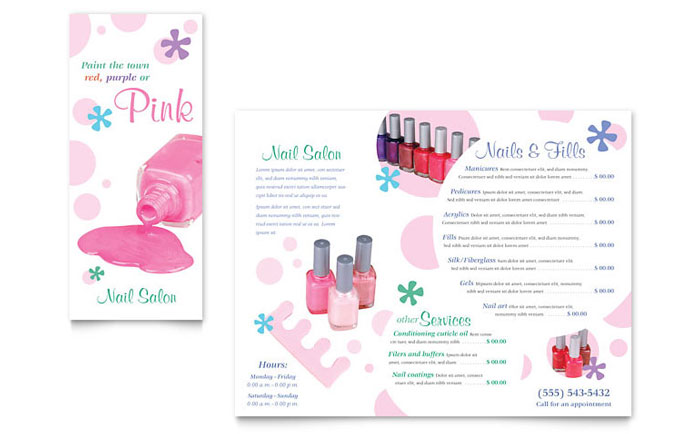 Nail Salon Brochure Template - Word  Publisher