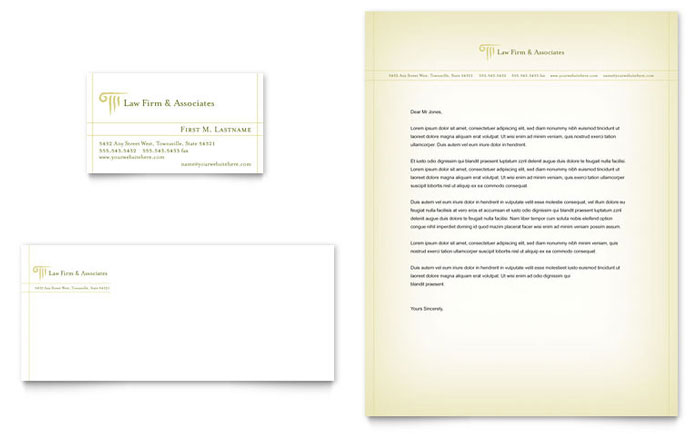 Attorney  Legal Services Business Card  Letterhead Template - Word - microsoft word legal template
