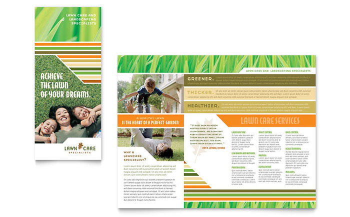 Lawn Care  Mowing Brochure Template - Word  Publisher - lawn services flyer