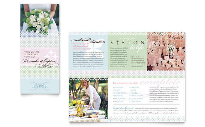 Wedding  Event Planning Brochure Template - Word  Publisher