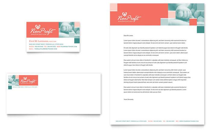 Free Letterhead Template Word Publisher Microsoft Non Profit Association For Children Business Card
