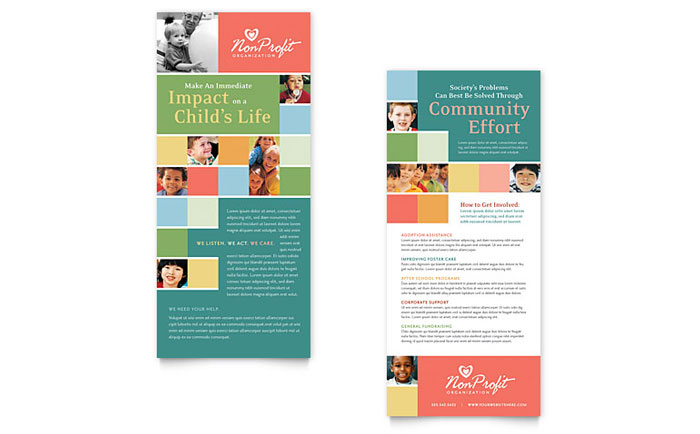 Non Profit Association for Children Rack Card Template - Word