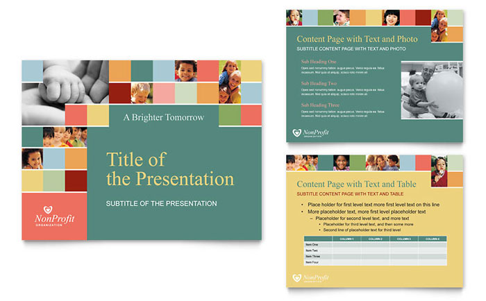 Non Profit Association for Children PowerPoint Presentation - Presentations Template